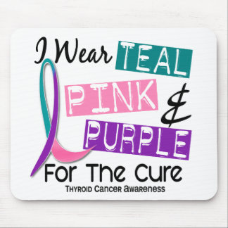 I Wear Thyroid Cancer Ribbon For The Cure 37 Mouse Pad
