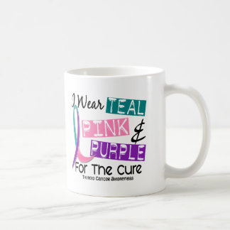 I Wear Thyroid Cancer Ribbon For The Cure 37 Mugs