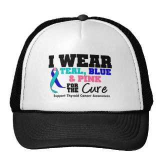 I Wear Thyroid Cancer Ribbon For The Cure Trucker Hat
