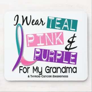 I Wear Thyroid Ribbon For My Grandma 37 Mousepads