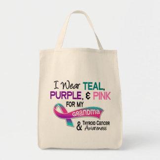 I Wear Thyroid Ribbon For My Grandma Grocery Tote Bag