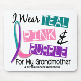 I Wear Thyroid Ribbon For My Grandmother 37 Mouse Pads