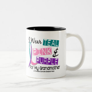 I Wear Thyroid Ribbon For My Grandmother 37 Mug