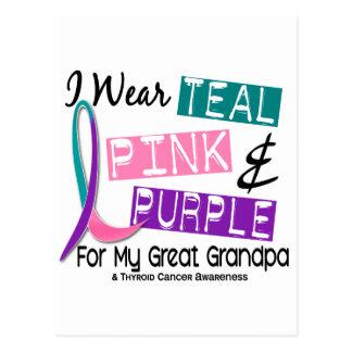 I Wear Thyroid Ribbon For My Great Grandpa 37 Postcard