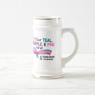 I Wear Thyroid Ribbon For My Husband Coffee Mugs