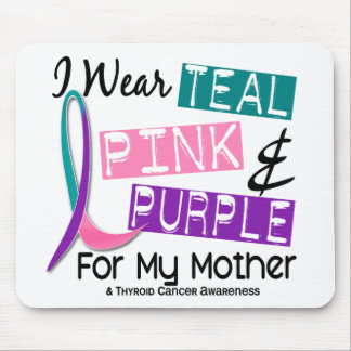 I Wear Thyroid Ribbon For My Mother 37 Mouse Pad