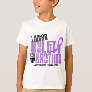 I Wear Violet Brother 6.2 Hodgkin's Lymphoma T-Shirt