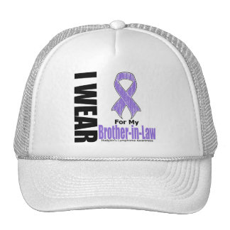 I Wear Violet For My BrotherInLaw Hodgkins Disease Trucker Hat