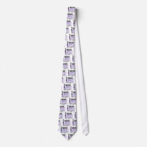 I Wear Violet For My Daughter Neck Tie