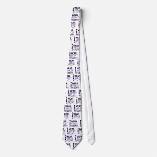 I Wear Violet For My Daughter Tie