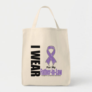 I Wear Violet For My FatherInLaw Hodgkins Disease Grocery Tote Bag