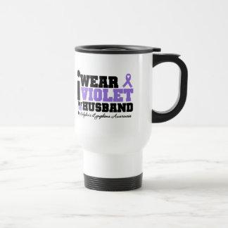 I Wear Violet For My Husband Hodgkins Lymphoma Coffee Mug
