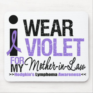 I Wear Violet For My Mother-in-Law Mouse Pads