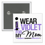 I Wear Violet For My Mum Button