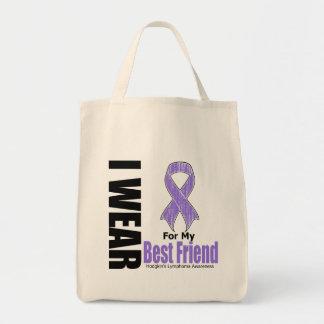 I Wear Violet Ribbon Best Friend Hodgkins Disease Grocery Tote Bag