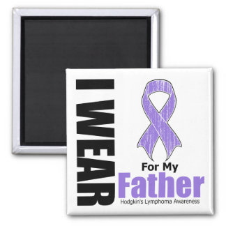 I Wear Violet Ribbon For My Father Hodgkins Diseas Square Magnet