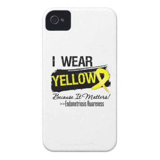 I Wear Yellow Because It Matters Endometriosis Case-Mate iPhone 4 Case