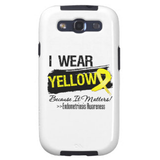 I Wear Yellow Because It Matters Endometriosis Samsung Galaxy S3 Cases