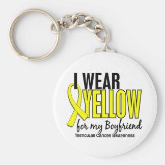 I Wear Yellow Boyfriend 10 Testicular Cancer Basic Round Button Key Ring
