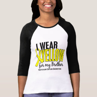 I Wear Yellow Brother 10 Testicular Cancer Tee Shirts
