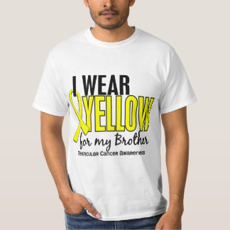I Wear Yellow Brother 10 Testicular Cancer Tshirt