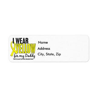 I Wear Yellow Daddy 10 Testicular Cancer Return Address Label