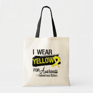 I Wear Yellow Endometriosis Awareness Matters Budget Tote Bag