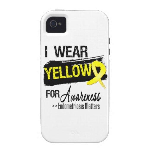 I Wear Yellow Endometriosis Awareness Matters Case-Mate iPhone 4 Cover