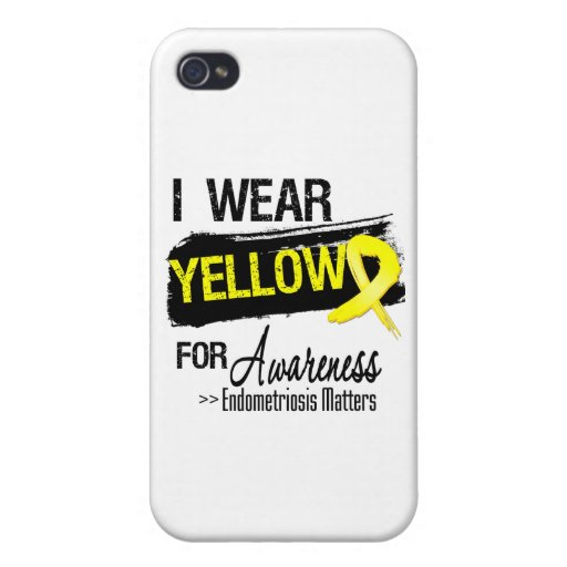 I Wear Yellow Endometriosis Awareness Matters iPhone 4/4S Case