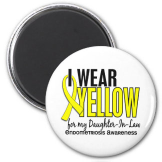 I Wear Yellow For Daughter-In-Law 10 Endometriosis 6 Cm Round Magnet