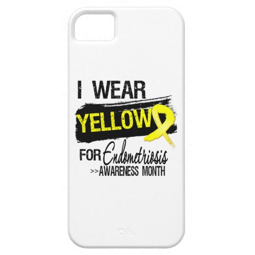 I Wear Yellow For Endometriosis Awareness Month iPhone 5 Cases