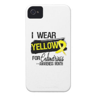 I Wear Yellow For Endometriosis Awareness Month iPhone 4 Case-Mate Case