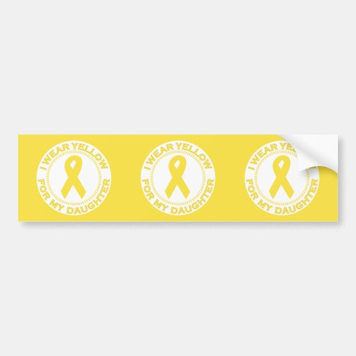 I Wear Yellow For My Daughter Bumper Sticker