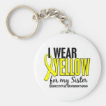 I Wear Yellow For My Sister 10 Sarcoma Basic Round Button Key Ring