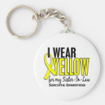 I Wear Yellow For My Sister-In-Law 10 Sarcoma Basic Round Button Key Ring
