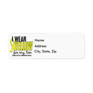 I Wear Yellow For My Son 10 Sarcoma Return Address Label