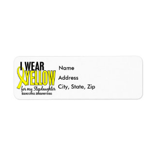 I Wear Yellow For My Stepdaughter 10 Sarcoma Return Address Label