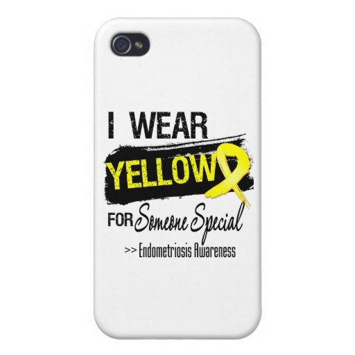 I Wear Yellow For Someone Special Endometriosis iPhone 4 Case