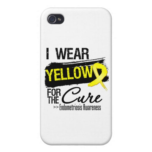 I Wear Yellow For The Cure Endometriosis Covers For iPhone 4