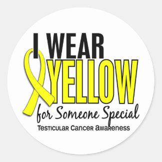I Wear Yellow Someone Special 10 Testicular Cancer Round Sticker