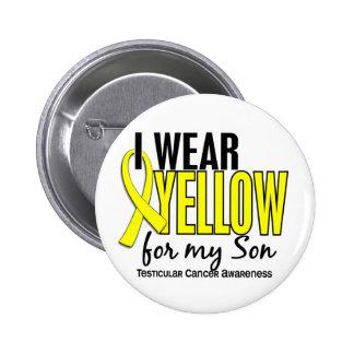 I Wear Yellow Son 10 Testicular Cancer 6 Cm Round Badge
