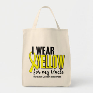 I Wear Yellow Uncle 10 Testicular Cancer Grocery Tote Bag