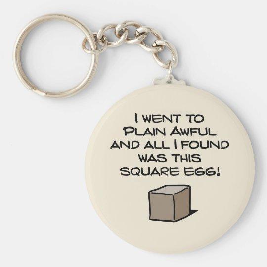 I Went To Plain Awful ... Basic Round Button Key Ring