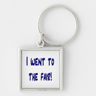I went to the fair! Solid blue version Fair swag Silver-Colored Square Key Ring
