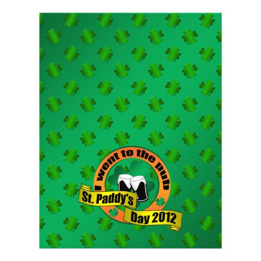 I went to the pub Saint paddy's day 2012 Full Color Flyer