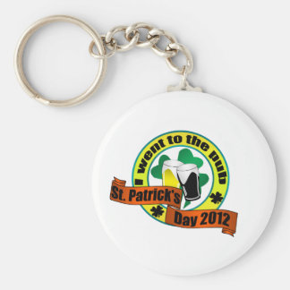 I went to the pub St. Patrick,s day 2012 Basic Round Button Key Ring