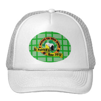 I went to the pub St. Patrick's Day orange green Trucker Hat