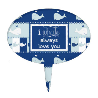 I Whale Always Love You Cake Topper