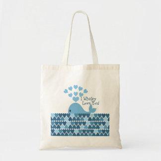 I Whaley Love You! Blue Tote Bag