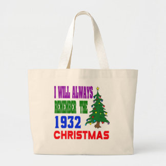 I will always remember the 1932 christmas tote bag